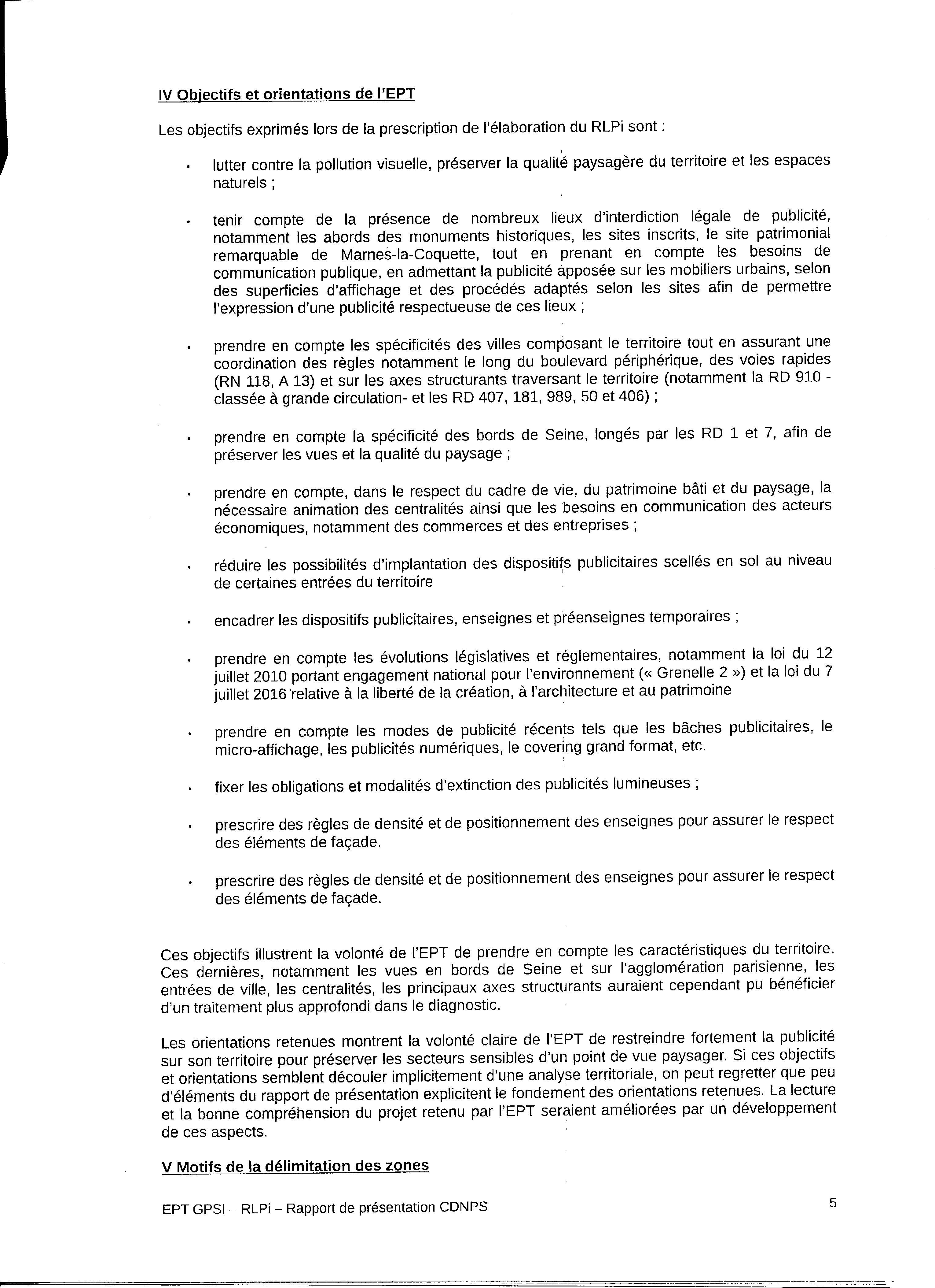 Avis Etat RLPI005