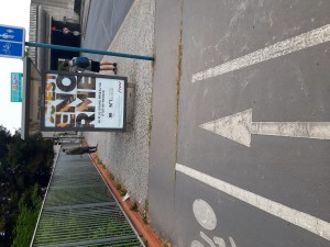 Publicité et piste cyclable